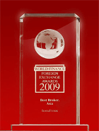 «Meilleur courtier en Asie 2009» selon les World Finance Awards